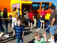 Outside the weiner mobile